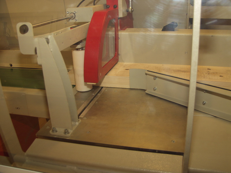 Materialanpressung - Blick von der Seite